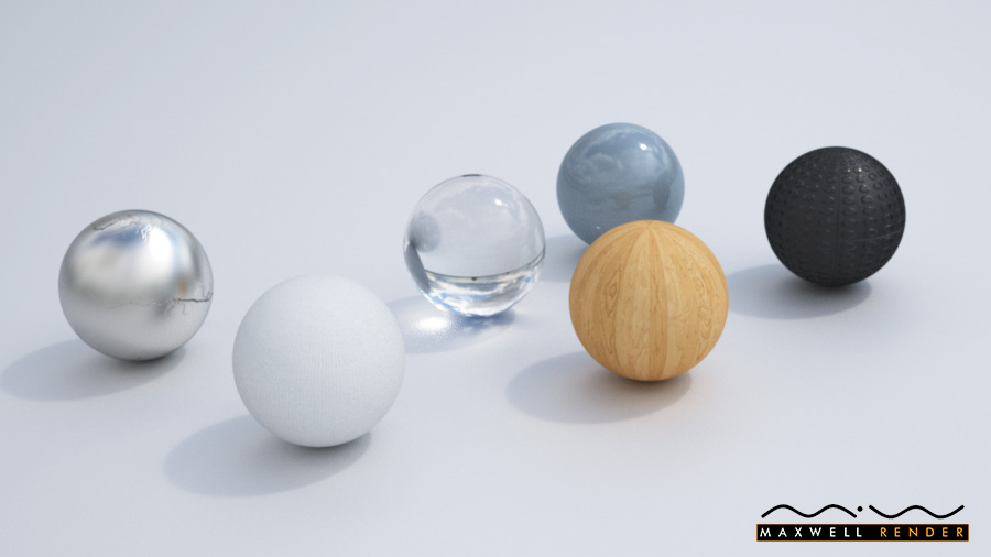 Maxwell Render Materials test