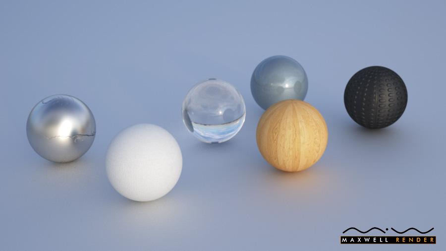 Materials test render