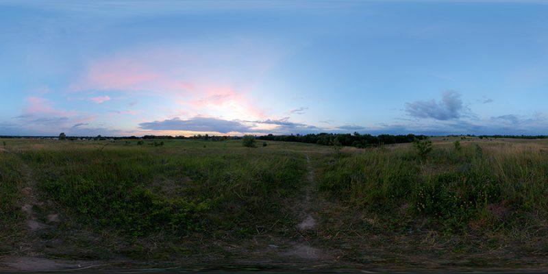 HDRI Sky environment taken at sunset – thumbnail
