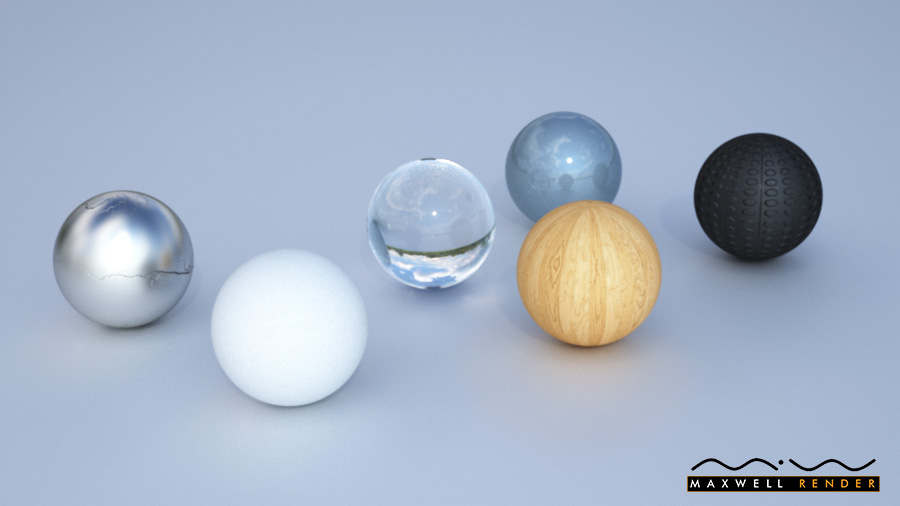 Materials test in Maxwell Render