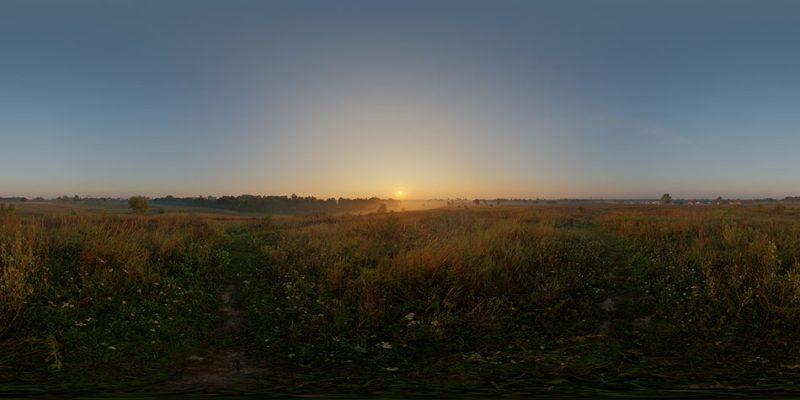 Sunrise HDRI sky