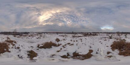 Morning HDR SKy map